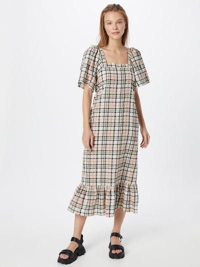 SOAKED IN LUXURY Kleid 'Tanay' in beige / rot / schwarz: Frontalansicht