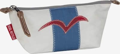 360 Grad Kosmetiktasche 'Navigator' in blau / grau / rot / weiß, Produktansicht