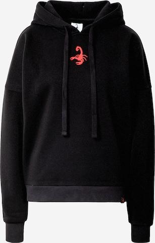 juoda VIERVIER Megztinis be užsegimo 'Ella'