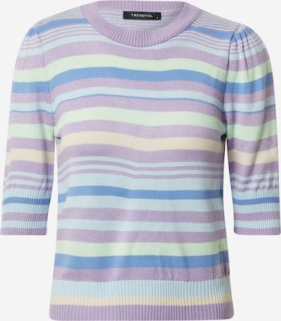 Trendyol Пуловер в светлосиньо / светложълто / светлозелено / лилав, Преглед на продукта