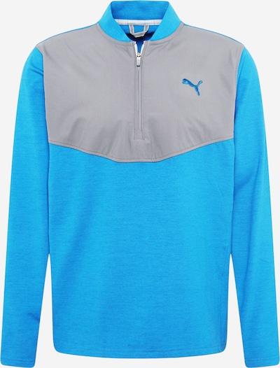 PUMA Sweat de sport en bleu ciel / gris, Vue avec produit