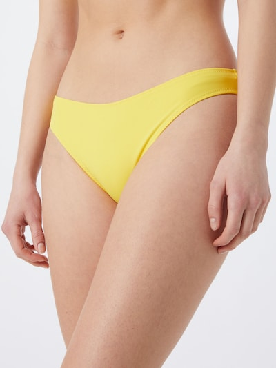 Calvin Klein Swimwear Bikini bottom in Yellow / Black, View model