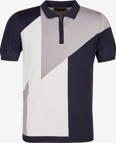 Leif Nelson Shirt in navy / grau / weiß, Produktansicht