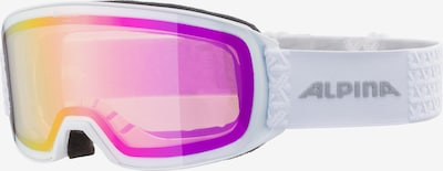 Alpina Skibrille 'Nakiska' in gelb / fuchsia / schwarz / weiß, Produktansicht