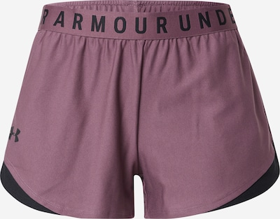 UNDER ARMOUR Workout Pants 'Play Up' in Berry / Black, Item view