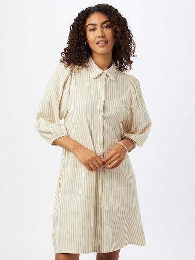 mbym Kleid 'Taimi' in beige / weiß, Modelansicht