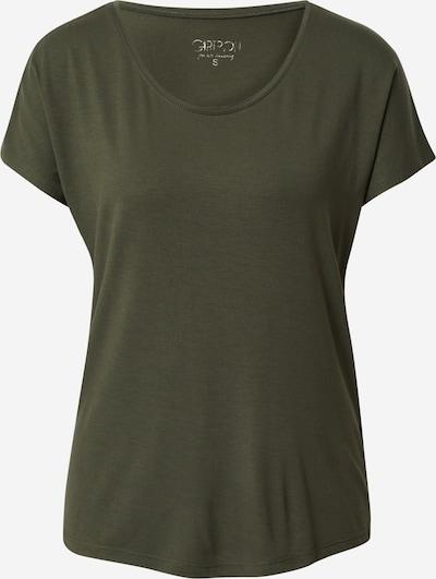 Cartoon Basic Shirt kurzarm in dunkelgrün, Produktansicht