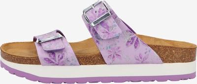COSMOS COMFORT Mule en violet clair / blanc, Vue avec produit