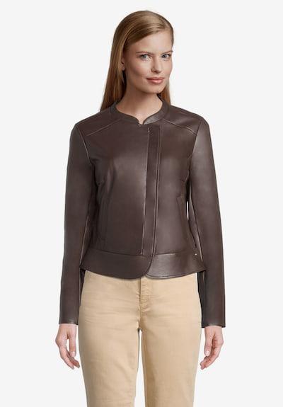 Betty & Co Blazer-Jacke mit Reißverschluss in braun, Modelansicht