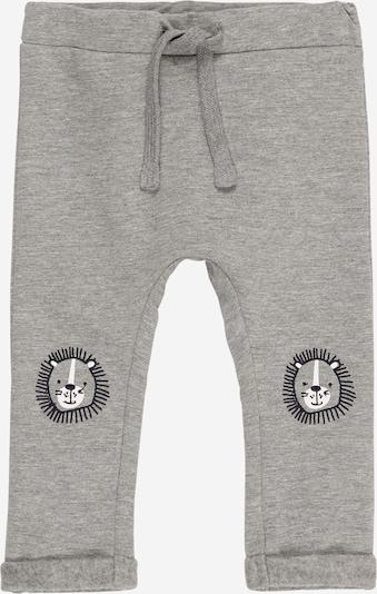 Guppy Pantalon 'DARKE' en bleu nuit / gris chiné / blanc, Vue avec produit