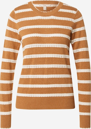 EDC BY ESPRIT Sweater in Brown / White, Item view