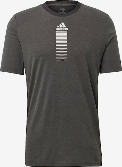 ADIDAS PERFORMANCE Functioneel shirt in de kleur Donkergrijs / Natuurwit, Productweergave
