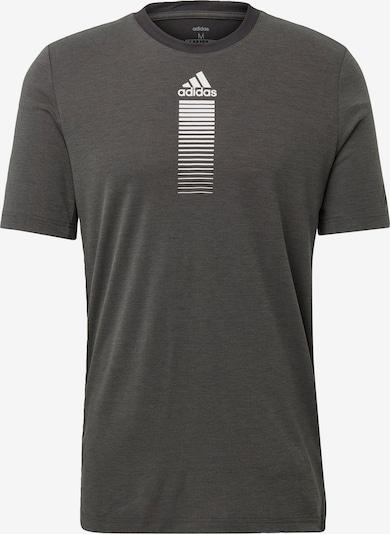 ADIDAS PERFORMANCE Shirt in dunkelgrau / naturweiß, Produktansicht