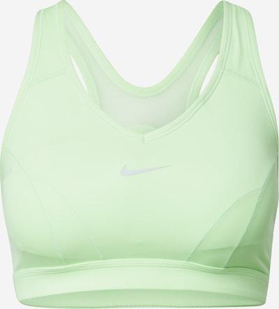 NIKE Sport bh 'Swoosh' in de kleur Grijs / Mintgroen, Productweergave