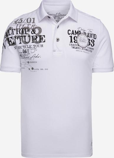 CAMP DAVID Shirt in taupe / schwarz / offwhite, Produktansicht