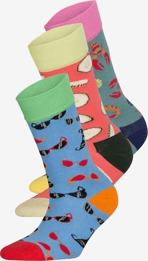 DillySocks Socken 'PSS20-03 Summer Beach' in blau / grün / rot, Produktansicht