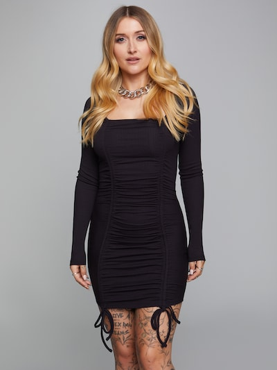 ABOUT YOU x Sharlota Kleid 'Sila' in schwarz, Modelansicht
