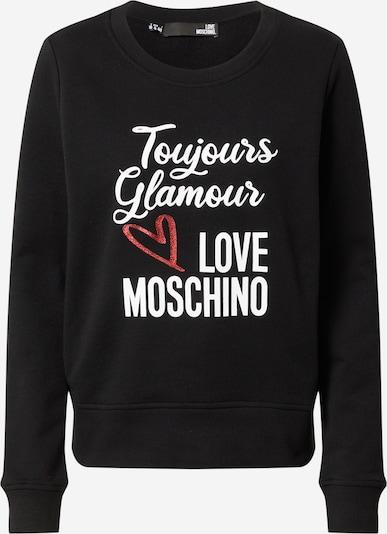 Love Moschino Mikina - červená / čierna / biela, Produkt