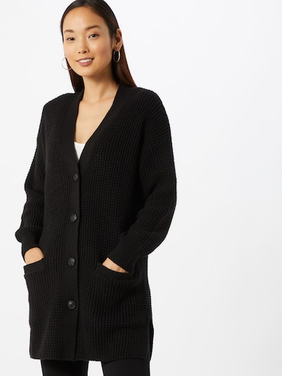 TOM TAILOR Strickjacke in schwarz, Modelansicht
