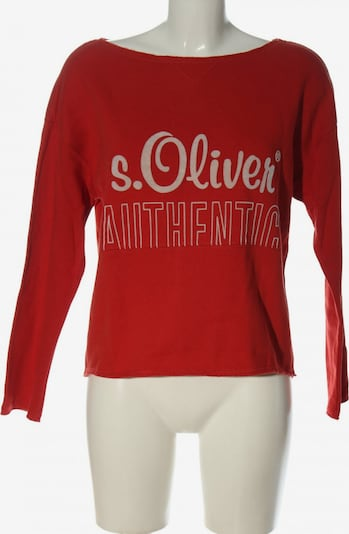 s.Oliver Sweatshirt in S in rot / weiß, Produktansicht