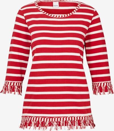 heine Sweat-shirt en rouge / blanc, Vue avec produit