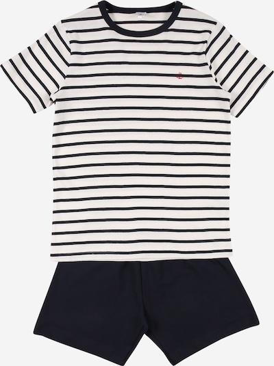 PETIT BATEAU Schlafanzug in schwarz / weiß, Produktansicht