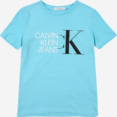 Calvin Klein Jeans Camiseta en azul claro / negro / blanco, Vista del producto