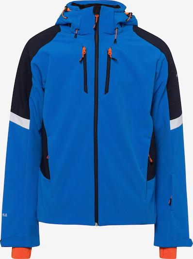 ICEPEAK Jacke 'Freeburg' in blau / orange / schwarz / weiß, Produktansicht