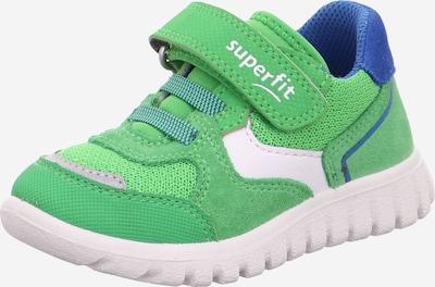 SUPERFIT Sneaker in blau / hellgrün / weiß, Produktansicht