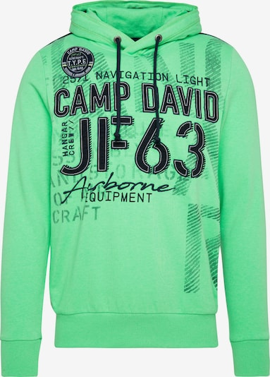 CAMP DAVID Sweatshirt in limette / schwarz, Produktansicht