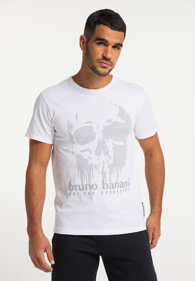 BRUNO BANANI Shirt in de kleur Grijs / Wit: Vooraanzicht