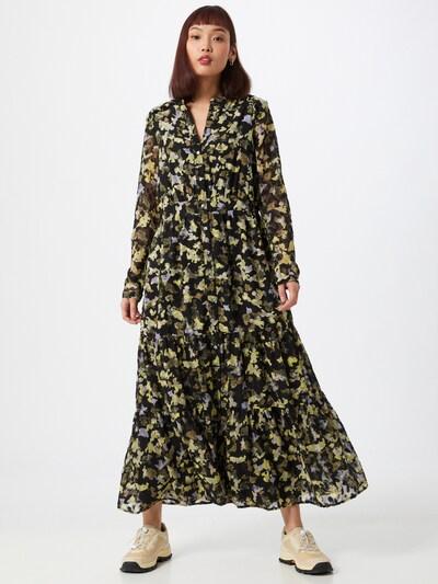 s.Oliver Kleid in rauchblau / braun / oliv / schwarz, Modelansicht