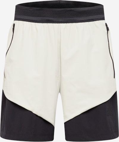 ADIDAS PERFORMANCE Pantalón deportivo en crema / negro, Vista del producto