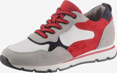 JANA Sneaker in hellgrau / rot / weiß, Produktansicht