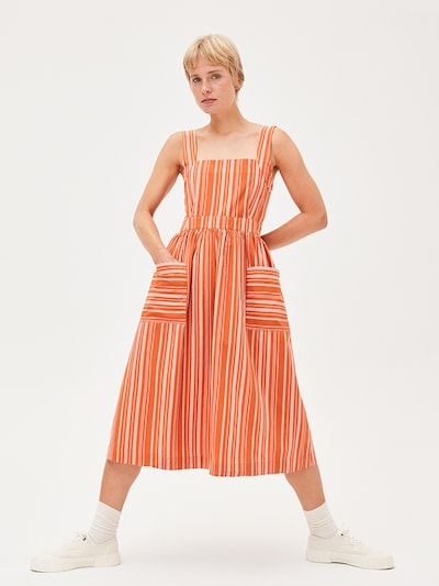 ARMEDANGELS Kleid ' Duttaa Stripes ' in orange, Modelansicht