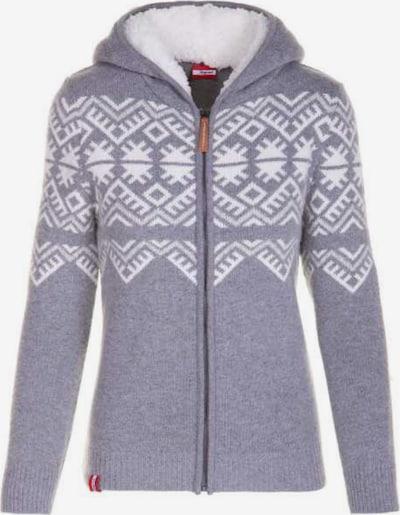 Almgwand Strickjacke in grau / weiß, Produktansicht