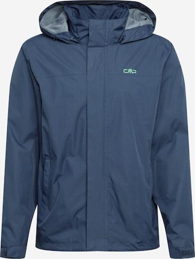 Giacca per outdoor 'Button Rain' CMP di colore marino / verde chiaro, Visualizzazione prodotti