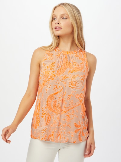 Emily Van Den Bergh Bluse in orange / hellorange, Modelansicht