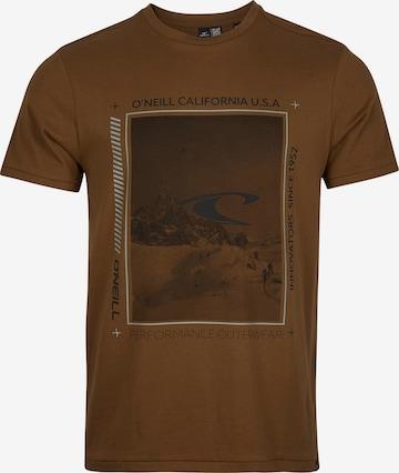 Maglietta 'Mountain Frame' di O'NEILL in marrone