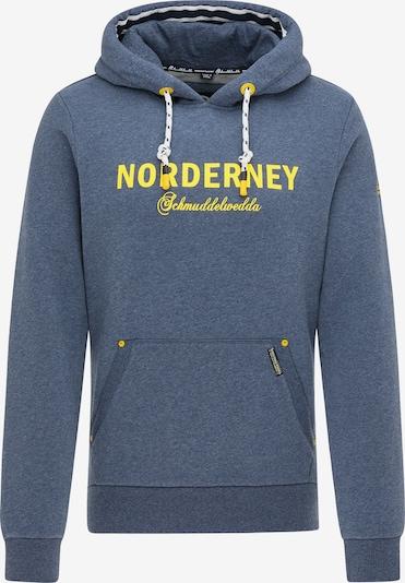 Schmuddelwedda Sweatshirt 'Norderney' in blaumeliert / gelb, Produktansicht