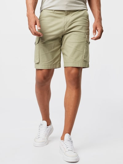 SELECTED HOMME Cargo Shorts in grün, Modelansicht