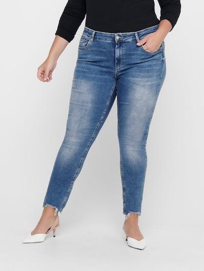 ONLY Carmakoma Jeans in blau, Modelansicht