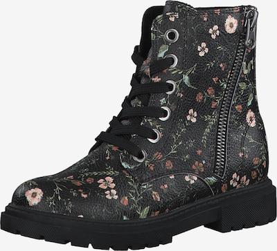 s.Oliver Stiefel in rostbraun / grün / rosa / schwarz, Produktansicht