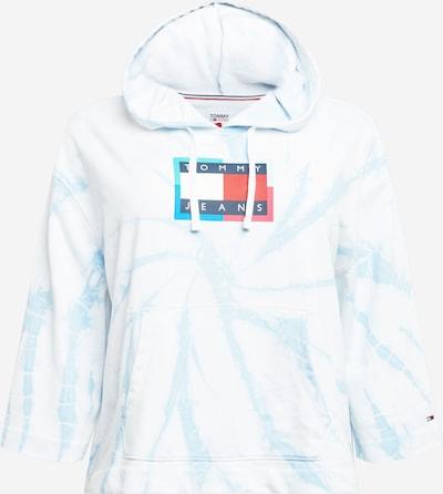 Tommy Jeans Curve Sweatshirt in nachtblau / hellblau / rot / weiß, Produktansicht
