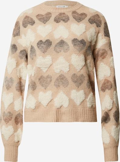 Molly BRACKEN Sweater 'Star' in light beige / brown / dark grey / off white, Item view