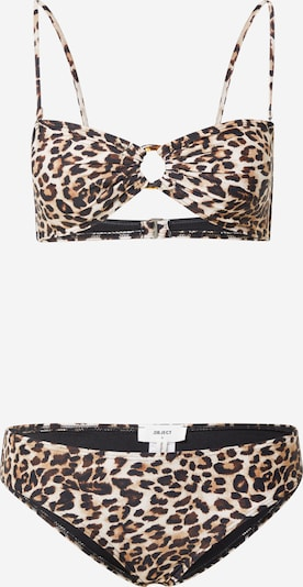 OBJECT Bikini 'Colette' en crema / azul castaño / marrón claro / negro, Vista del producto