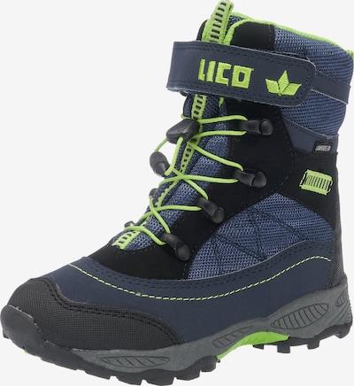 LICO Winterstiefel in nachtblau / kiwi, Produktansicht