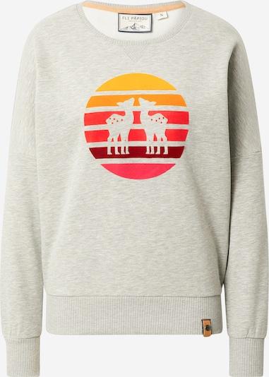 Fli Papigu Sweatshirt 'Der 12' in graumeliert / mischfarben, Produktansicht