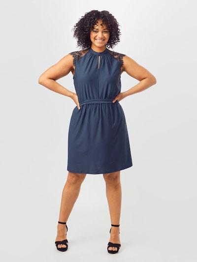 Vero Moda Curve Kleid 'MILLA' in dunkelblau, Modelansicht
