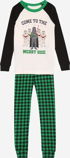 GAP Pidžama set 'VADER' u zelena / crna / bijela, Pregled proizvoda